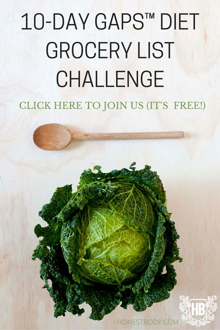 Gaps Diet – Full Diet Food List