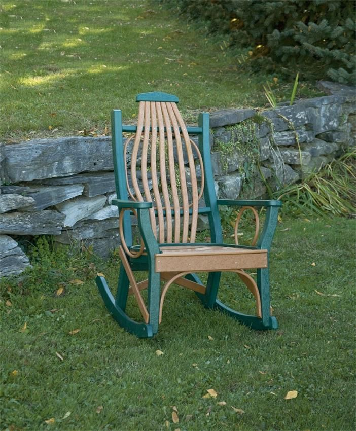 Amish Poly Wood Outdoor Rocking Chair