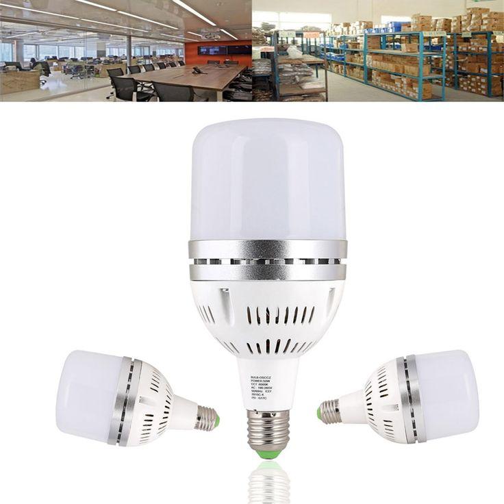 E27 50W SMD3030 3000LM Pure White High Power LED Spotlight Light Bulb for Workshop AC85-265V