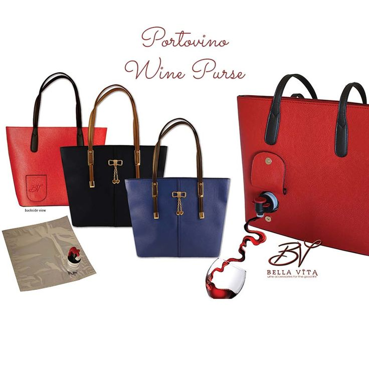 Portovino Compilation with Party Pouch. Wine Purse in black please :)