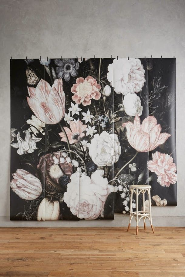 Best 25 floral wallpapers ideas on pinterest ellie for Anthropologie dreamscape mural