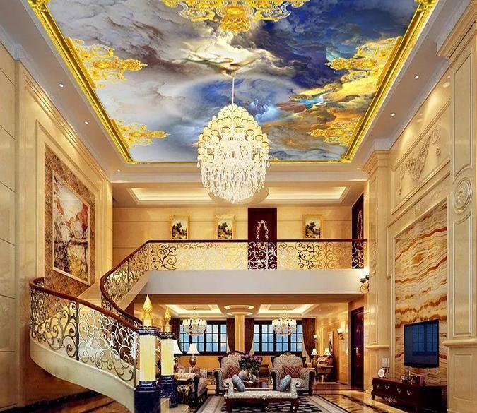 Golden Frame Angel 019 Aj Wallpaper Ceiling Murals Architecture House