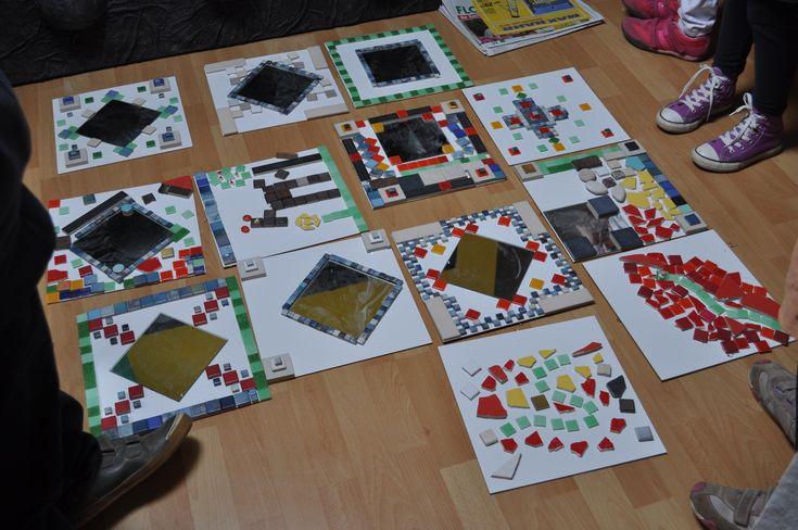 Mosaik eignet sich für alle Altersstufen und macht auch den Eltern großen Spaß. Die Kinder dürfen ein Mosaik-Bild und/oder einen Mosaik-Spiegel gestalten. Dauer: 2 Stunden
