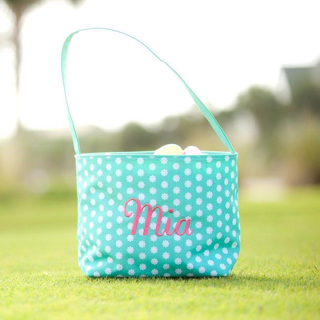Hadley Bloom Monogrammed Easter Basket