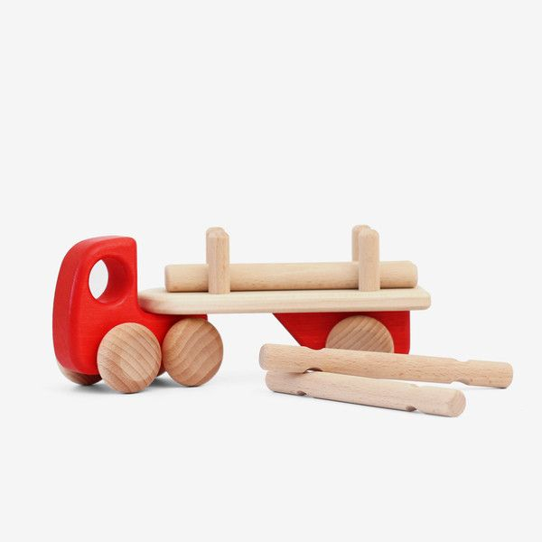 beautifully designed toy truck, eco-certified and crafted from solid wood from renewable sources.