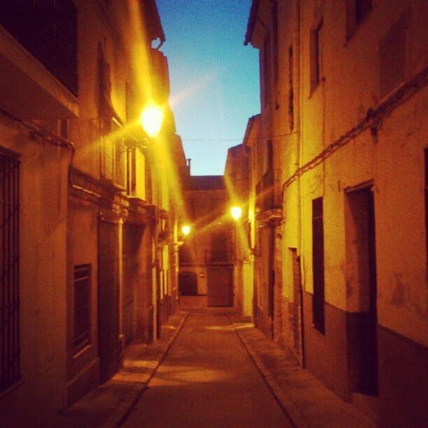 Anochece por estos lares... #fotoenguera #enguera