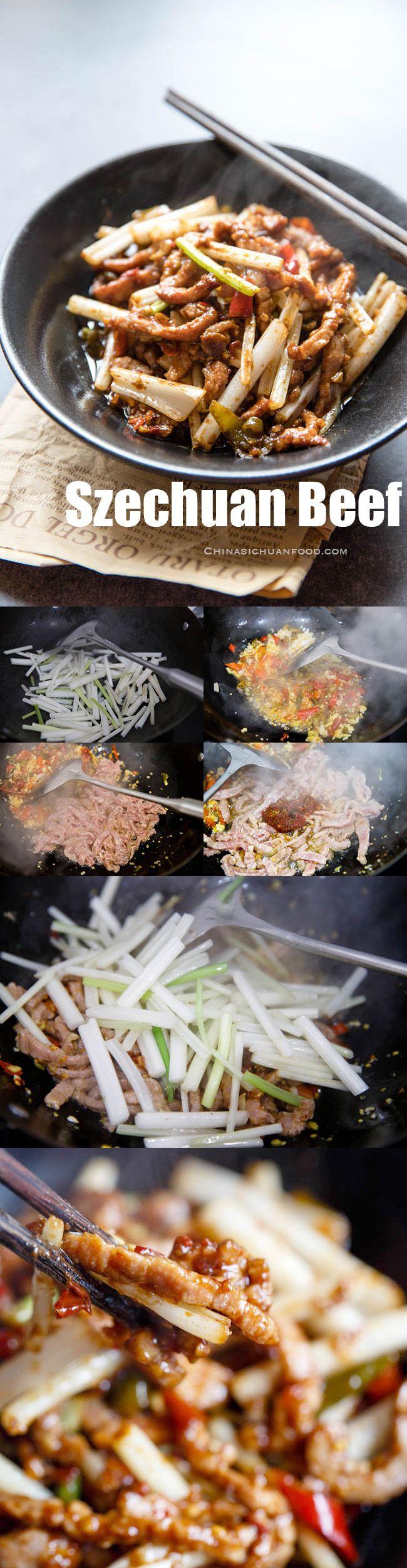 shredded beef szechuan style  recipe  asian recipes