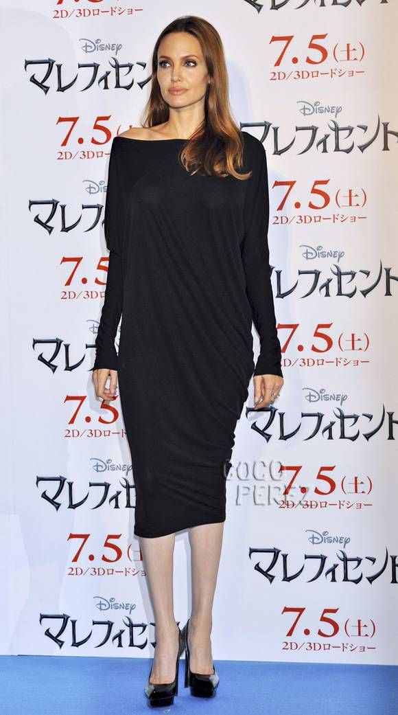 Angelina Jolie's Outfit Is A Rare Miss At The Maleficent Photocall In Tokyo, But Her Face Is BEYOND Flawless!!