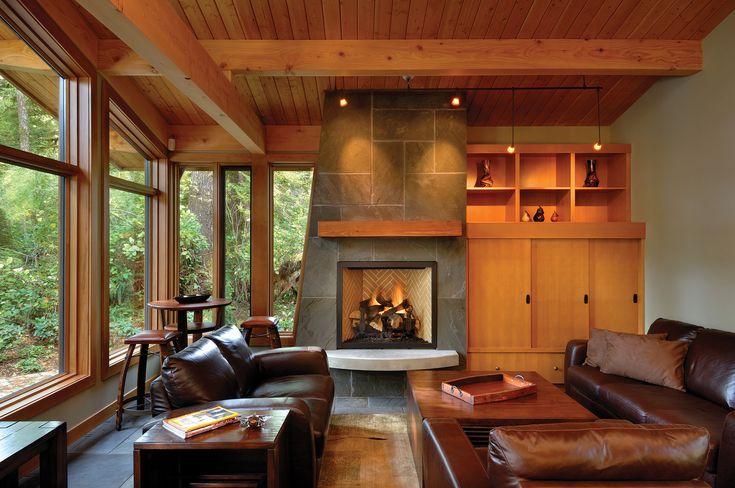 West Coast Style Cedar Cottage Modern Interior