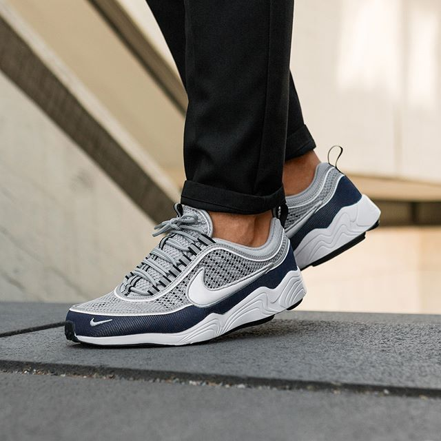 new appearance best value nice shoes Nike Air Zoom Spiridon '16 (Wolf Grey / White - Midnight ...
