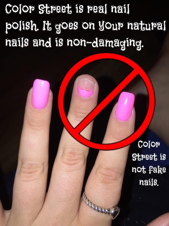 Color Street Is Safe For All Nails Acrylics And Natural Nails Looks Great With Color Street Manis Colorstree Diy Acrylic Nails Fake Nails Long Acrylic Nails