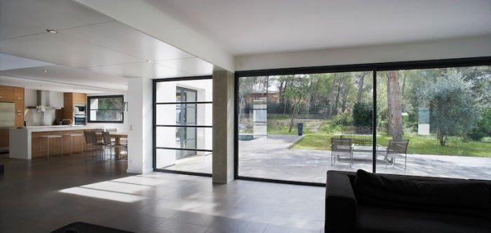 deuren terras - slanke, glazen SLIM LINE schuifpui van TUDOR.