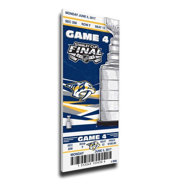 Nashville Predators vs. Pittsburgh Penguins 2017 Stanley Cup Final Game 4 Dueling Small Mega Ticket - $69.99