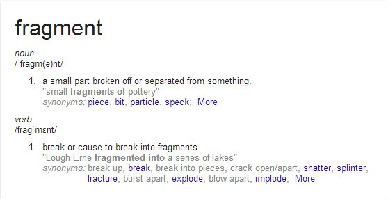 The definition of Fragments
