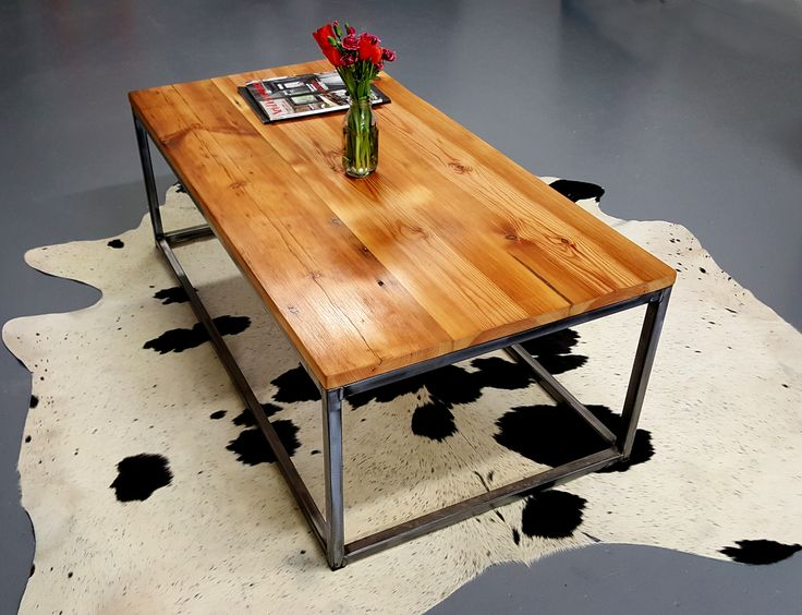 Bespoke industrial style furniture handmade in Dublin Ireland, specialising in solid hardwood dining tables