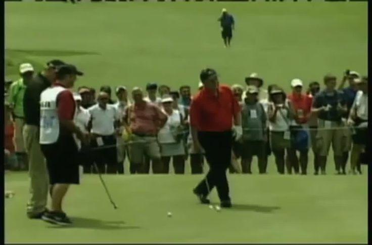 Jack Nicklaus Makes A 100-foot Golf Putt  #golf #pga #pro