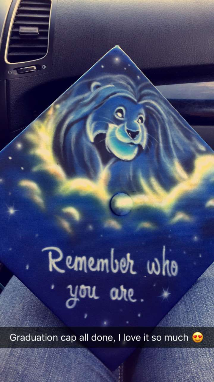 The Lion King graduation cap! When I saw it for the first time, literally tears came to my eyes.