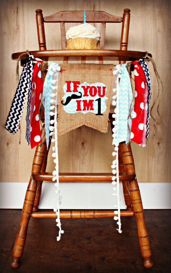 Mustache Bash Birthday Age HIGH CHAIR highchair Birthday Banner /Party/ Photo Prop/Bunting/Backdrop/ Nursery Banner/Custom