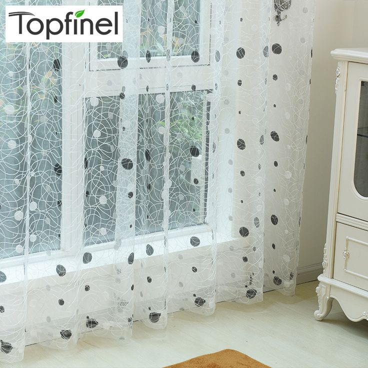 Top Finel 2016 Bird Nest Sheer Curtain Panel Embroidered Curtains for Kitchen Living Room the Bedroom Tulle for Window…