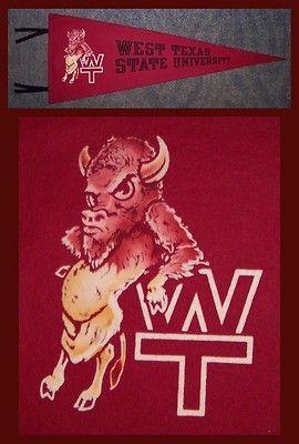 VINTAGE West Texas A&M University Football Pennant! WOW | #409334503