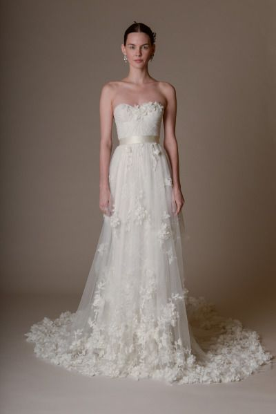 Fairytale wedding dress: http://www.stylemepretty.com/2015/04/19/marchesa-bridal-spring-2016/