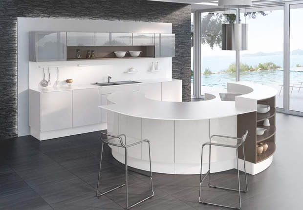 Idee Salle De Bain Rouge Et Blanc : Cuisine Comera  cuisine design blanche  Cuisine, Cuisine design and
