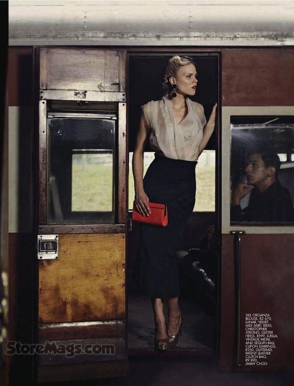 """""""Strangers When We Meet"""": Louise and Richard by Jean-Pierre Fourie for Elle South Africa"""