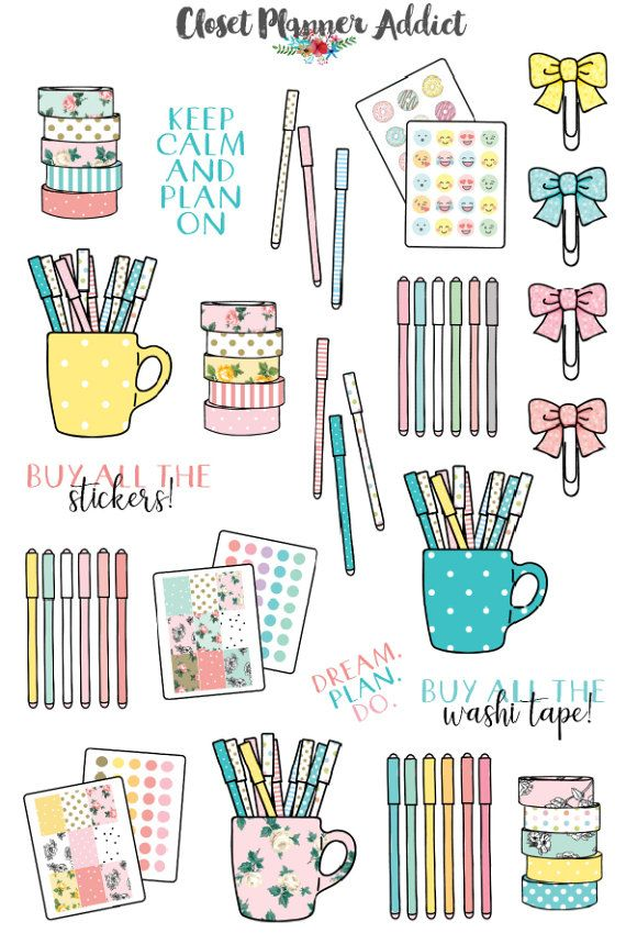 Planner Stationery Planner Stickers Planner Addict