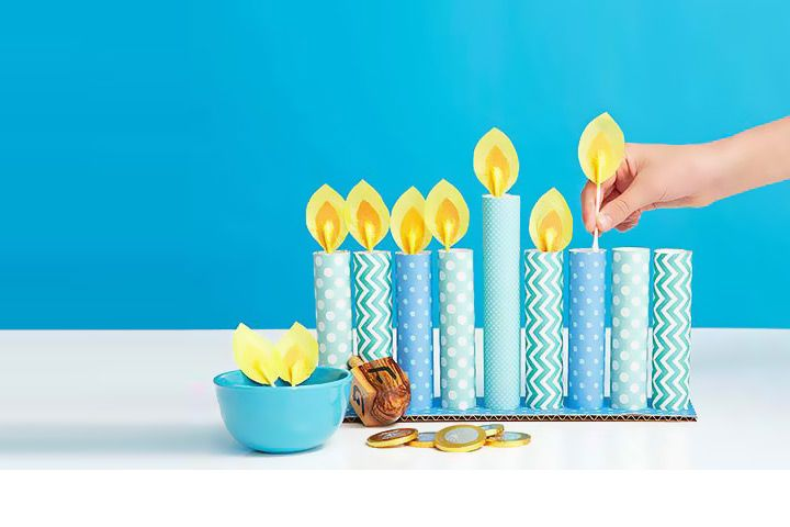 how to make a menorah easy