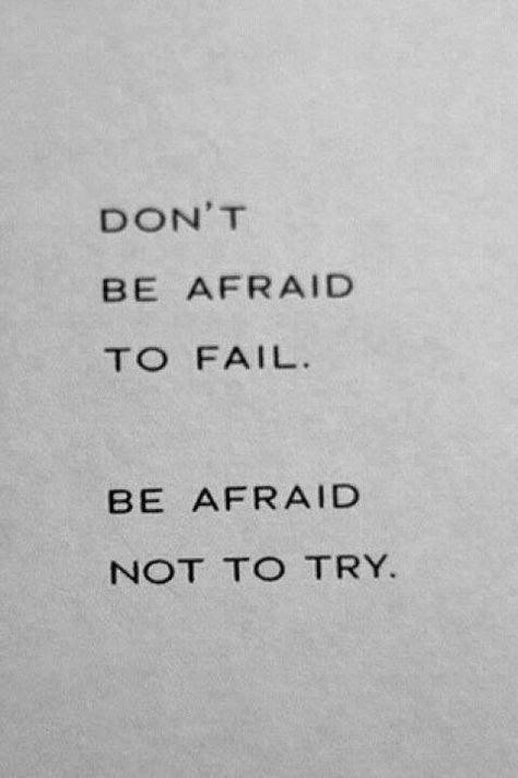 #boost #ledeclicanticlope / N'aie pas peur de rater, aie peur de ne pas essayer.