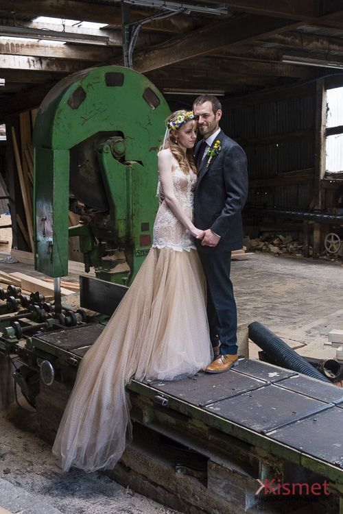 Another of our gorgeous recent couples Livvy & Ben, alternative sawmill wedding.  We are in love with this wedding. @longfordbarn