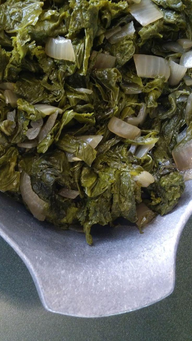 Southern Forager: Crockpot Mustard Greens