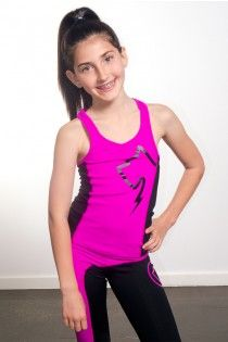 Be zen in this Yoga Cami, sportswear, hot pink and black