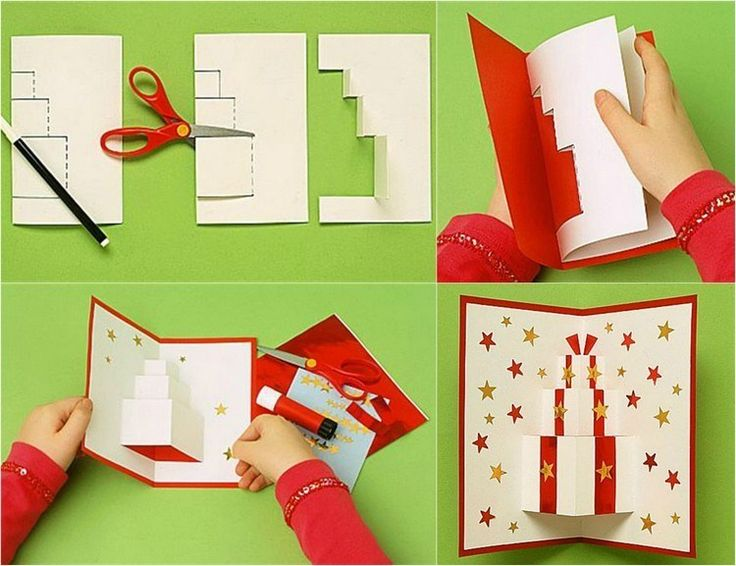 Carte noel pop up fabriquer recherche google cadeau - Carte pop up facile ...
