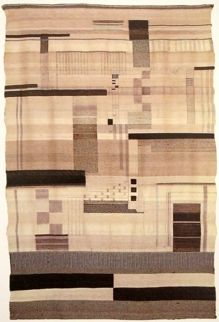 "Gunta Stölzl ""Black and White"" Wall hanging 1923-24"