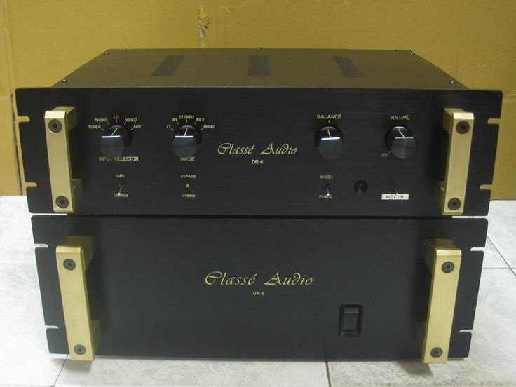 The DR- series of products by Classe Audio were designed by Dave Riech who happened to work for Steve Glickman when he owned a hi-fi shop called Custom Sound in Montreal before opening London Audio. The DR6 preamp and DR9 power amp were rated by Absolute Sound as amongst the best available at any price in their time.