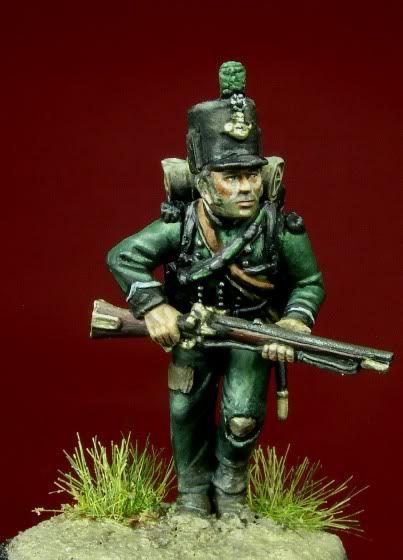 28mm model of British 95th Rifle Regiment