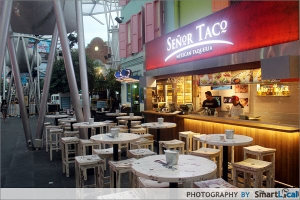Senor Taco Clarke Quay Mexican restaurant Senor Taco has just recently opened their 5th branch in Singapore at Clarke Quay. This new venue is actually located just opposite their very first 20 seater outlet (first picture below). This new branch can accommodate substantially more people - up to 140! The old (first pic) and new. Last picture courtes...