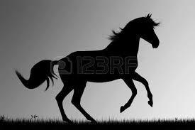 silueta de caballos corriendo - Buscar con Google