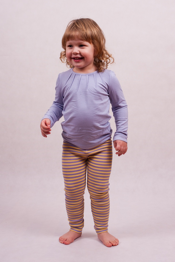 Leggings for girls with elastic band at waist. Pattern with horizontal stripes. Material is safe in contact with sensitive skin of your baby.