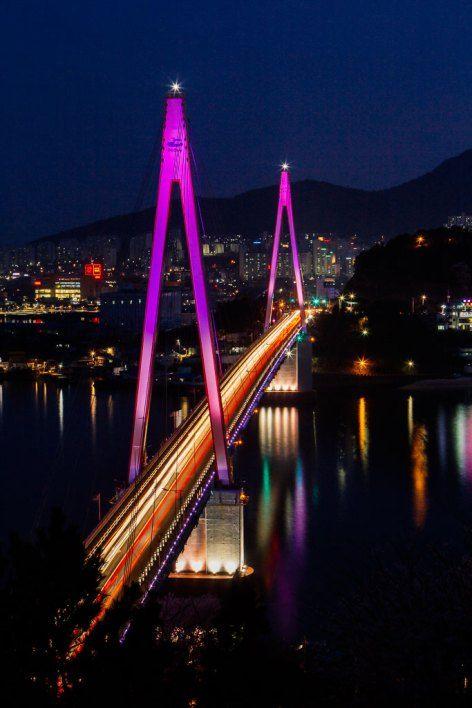 A night view of Yeosu in South Korea