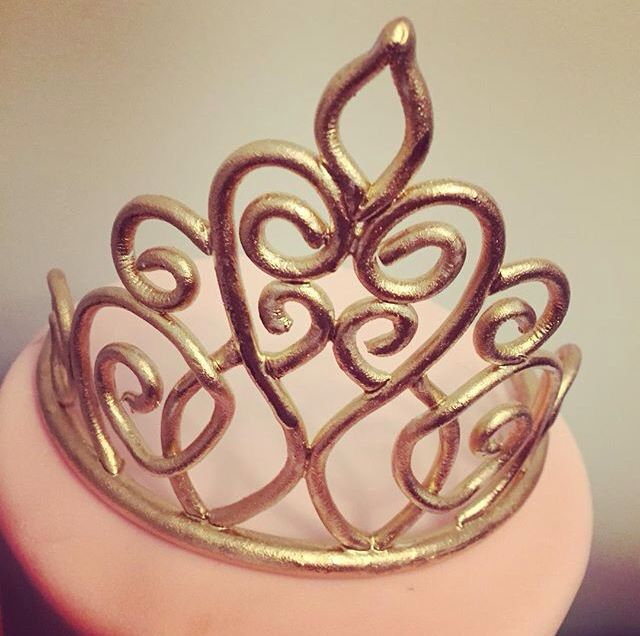 Perfect fondant crown                                                                                                                                                                                 More