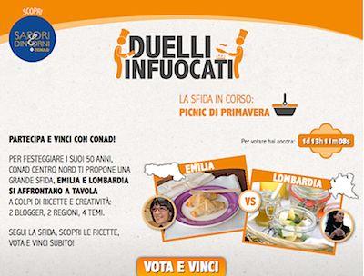 Duelli Infuocati: Conad porta la cucina regionale su Facebook con un contest.