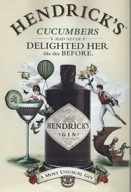 Hendricks Gin: Rose and Cucumber infused - fresh, not too much juniper, very nice...
