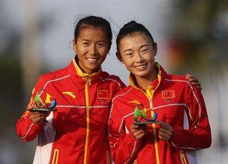 Medal - Liu, Hong, Lu, Xiuzhi - Athletics - China - Women's 20km Walk - Women's 20km Race Walk - Pontal