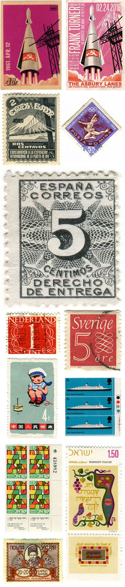 . daily daydreams . a blog by love ardently design studio , Archive » vintage postage stamps