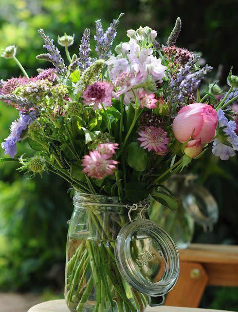 Wild country flowers to grace a outdoor picnic table in a favorite spot