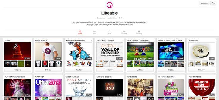 Vind ons ook op #Pinterest! #LikeableDesign
