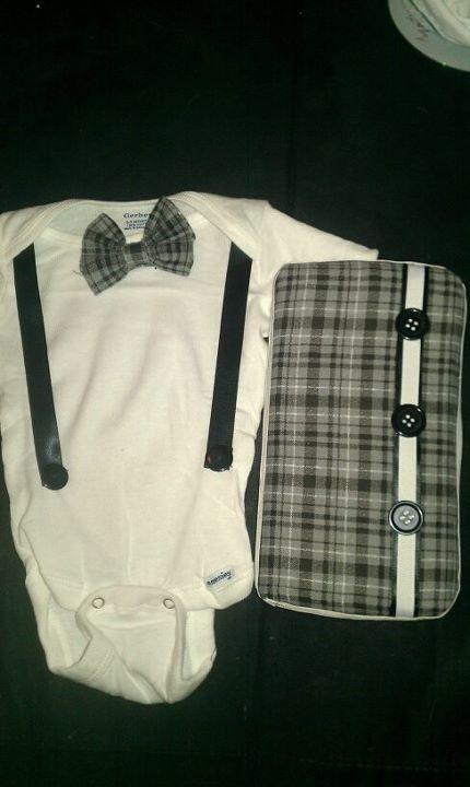 onesie and baby wipe case