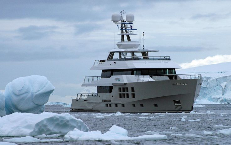 The ultimate expedition yacht. BIG FISH. Antarctica.